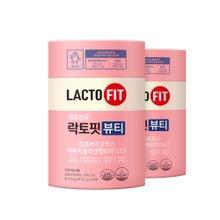 [종근당건강] 락토핏 생유산균 뷰티 2통 (총120포)