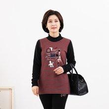 마담4060 엄마옷 그녀의스트라이프티셔츠-ZTE912169-
