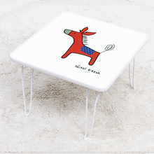 [귀여운 케릭 찻상/노트북테이블로~] 신지가토 세이프티 테이블 포니-레드 ( 400*400)