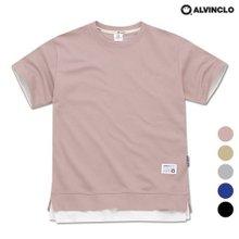 [앨빈클로]AST-3512 특양면 레이어드 오버핏 티셔츠