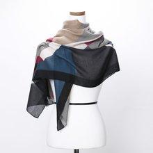 [파파브로]H로고 가을 겨울 간절기 패션 스카프 DRN-WSC0152-블랙