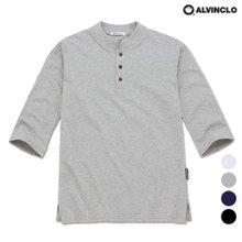 [앨빈클로]AST-3236 헨리넥 7부 슬라브 티셔츠