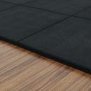 [바디엑스]고무 타일매트 블랙 25T (50cm*50cm)