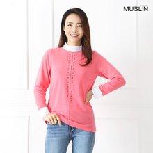 엄마옷 모슬린 블링 은하수 컬러 티셔츠 TP902036