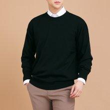 [파파브로]남성 국산 울 긴팔 티셔츠 라운드 가디건 니트 JP-NTR9-블랙