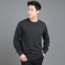 [파파브로]남성 국산 울 긴팔 티셔츠 라운드 가디건 니트 JP-NTR9-차콜