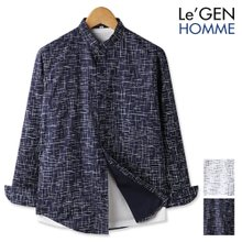 르젠 차이나카라 스크래치 슬림핏 셔츠(LNSH1295PE)