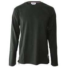 [톰브라운]19FW MJS068A 00042 350 남성 삼선탭 롱슬리브 티셔츠 카키