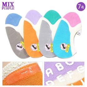 [믹스퍼플] 여름용 유아동 실리콘 면덧신 7켤레 색상선택가능
