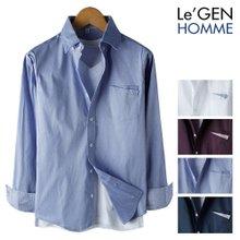 르젠 투버튼 포켓패치 슬림핏 스판 셔츠(LNSH1299PE)