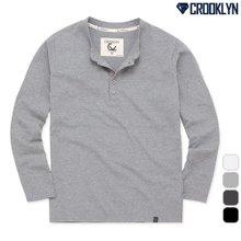 [크루클린] 5P 헨리넥 긴팔 티셔츠 THL714