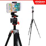 [본젠] VT-340C 스마트폰 삼각대 + VCM-563G 핸드폰 거치대 SET (핸드폰 카메라 사진 촬영)