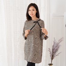 마담4060 엄마옷 러블리리본롱블라우스 ZBL909006