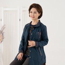 마담4060 엄마옷 꽃무늬배색자켓 ZJK908008