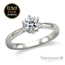 [타뮤즈] 14K 우신 5부 다이아몬드-뮤즈-D2020R-화이트골드-결혼반지-프로포즈