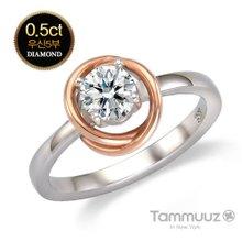 [타뮤즈] 14K 우신 5부 다이아몬드-아델라-D2018R-콤비골드-결혼반지-프로포즈
