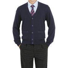 [파파브로]남성 국산 브이넥 울 니트 폴라 정장 가디건 JP-CD9-네이비