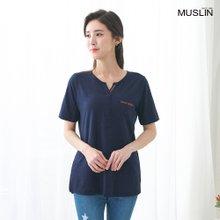 [엄마옷 모슬린] 테잎 포켓 라운드 티셔츠 TS005305