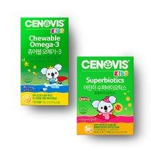 [세노비스] 키즈 츄어블오메가-3 (150캡슐) +키즈 어린이 수퍼바이오틱스 (30포)