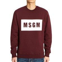 [엠에스지엠] 로고 2740MM68 195799 20 남자 긴팔 기모 맨투맨 티셔츠