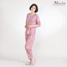 페이즐 면홈웨어상하세트 -HS1066- 모슬린 엄마옷