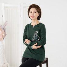 마담4060 엄마옷 가을외출티셔츠 ZDTE909009