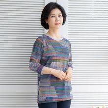 마담4060 엄마옷 유니크줄티셔츠-ZTE005014-