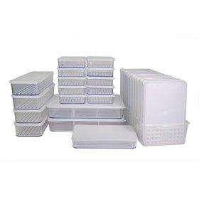 [실리쿡] 냉동실수납용기 납작용기1+1세트 (29종), TV방송구성