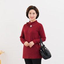 마담4060 엄마옷 밍크포인트줄반목티셔츠-ZTE912112-