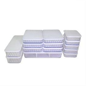 [실리쿡] 냉동실수납용기 납작용기1세트 (14종), TV방송상품