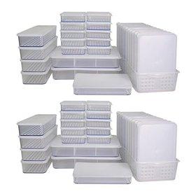 [실리쿡] 냉동실수납용기 납작용기2+2세트 (58종), TV방송구성