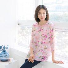 마담4060 엄마옷 화사한진주프릴블라우스 QBL905001