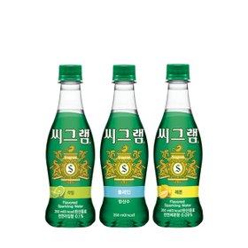 [코카콜라] 씨그램 탄산수 350ml x 24개(플레인/라임/레몬 택1)