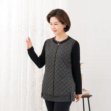마담4060 엄마옷 이중조끼라운드티셔츠-ZTE912117-