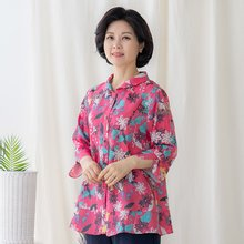 마담4060 엄마옷 바람인견셔츠-ZBL005014-