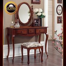 [끌라띠오] 올리비아 엔틱 콘솔 화장대세트(화장대,의자,거울세트) TR080