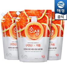 [애경]순샘 구연산 자몽 1.2Lx3개