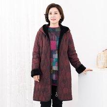 마담4060 엄마옷 동글후드패딩점퍼-ZJP912003-
