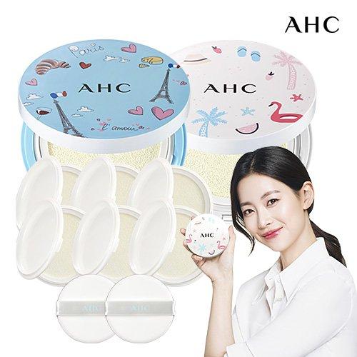 AHC 메가 썬쿠션 프렌치에디션 패키지(블루+화이트/8개용량)