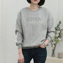 [웬디즈갤러리]코튼 기모 맨투맨 PTS002