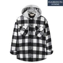 [해리슨] 남자 체크 후드남방 셔츠 DND1022