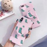 [다린] 러블리 핑크 공룡 그립톡 젤리케이스 아이폰11 XR XS 갤럭시S10 노트10 노트9 S9 S8 노트8