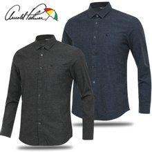 [아놀드파마] 순면 심플 포켓 남성 카라넥 긴팔 셔츠/골프웨어_246847