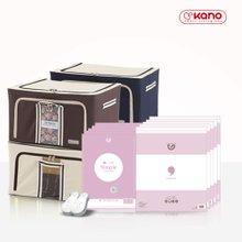 카노 옷정리세트( 리빙박스 66L 4P+압축팩 10P)
