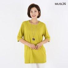 엄마옷 모슬린 실키 라운드 티셔츠 TS8041321