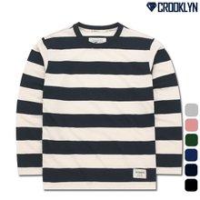 [크루클린] TRL-722 스트라이프 긴팔 티셔츠