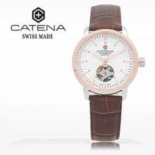 카테나(CATENA) 오토매틱 여성가죽시계(CA026D-2BU)