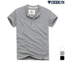 [크루클린] 헨리넥 5P 반팔 티셔츠 THS143