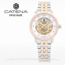 카테나(CATENA) 오토매틱 여성메탈시계(CA025D-2BM)