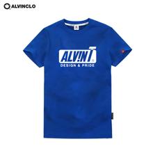[앨빈클로] AST-3829E ALVIN 심플한 반팔티셔츠 남자 여자 커플룩 단체